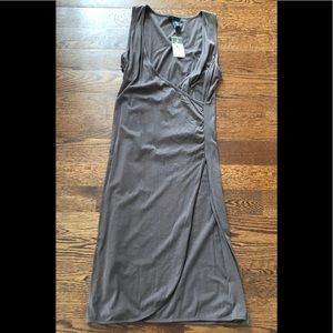 NWT Babystyle Brown Maternity Dress Sleeveless Med